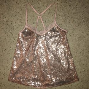 fancy sparkly tank top
